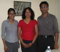 Part of the Team in Colombo